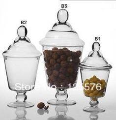 Best seller, Dia15 x High30 cm , Vidro Bomboniere , frasco do armazenamento , para doces , Nut , milho, bolo , decoração de casa ( No.B1 Ite...