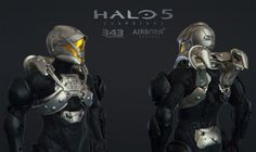 Halo 5 Multiplayer Armor Goblin, Airborn Studios on ArtStation at https://www.artstation.com/artwork/0znR4