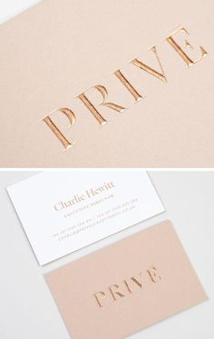 Rose gold embossing - Prive