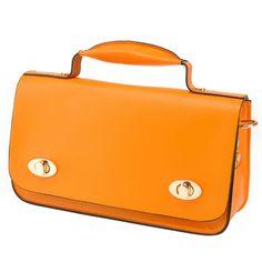 Chiya, ladies #orange #shoulderbag design, top single handle