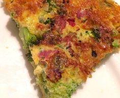 Frittata met platte kaas, broccoli en kerstomaatjes - Recept uit myTaste Frittata, Broccoli, Cheesecake, Breakfast, Food, Quiches, Morning Coffee, Cheese Cakes, Pies
