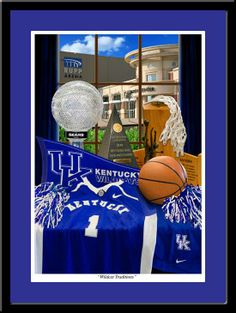 Kentucky Wildcat Traditions Framed UK Basketball Print