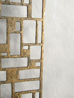 | P | Bronze Custom screen by BBPR for a private home in Milan 1958 ca.