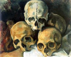 Paul Cézanne, Pyramid of Skulls, c. 1901 - ポール・セザンヌ - Wikipedia