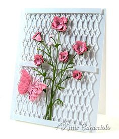By Kittie Caracciola #Memory Box Bella Bouquet  http://stampingwithbibiana.blogspot.com/