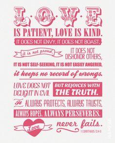 love is patient love is kind - #Corinthians