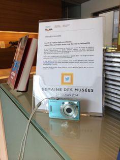 """MNHA Luxembourg #museumweek """"#LoveMW Aujourd'hui, faites-nous partager votre coup de coeur! Un appareil photo vous attend à l'accueil... """""""