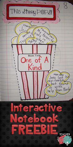 FREE: Interactive Reading Notebook.  Popcorn themed book report.  TeacherKarma.com