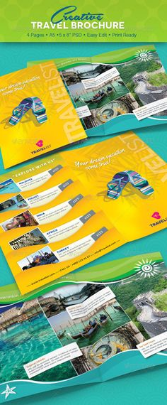Travel Brochure Examples With Enticing Designs  Travel