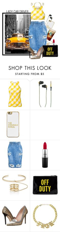 """""""Can you take me 4 a ride?"""" by kisses4u ❤ liked on Polyvore featuring TAXI, STELLA McCARTNEY, Kreafunk, BaubleBar, Farrow & Ball, OneTeaspoon, MAC Cosmetics, Yves Saint Laurent, Kate Spade and Alexis Bittar"""