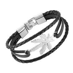 6f2f74d18421d Handmade Leather Bracelet Men s Charm Bracelet Retro Knitting UNISEX Jewelry