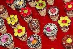 Kleine Kuchen im Waffelbecher 22