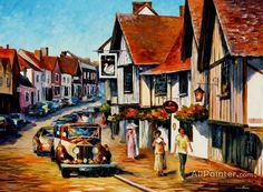 Leonid Afremov Wedding Day In Lavenham Suffolk England oil painting reproductions for sale