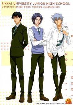 Prince of tennis -- masaharu niou, rikkaidai, seiichi yukimura, genichiro sanada