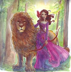 This artist does beautiful original illustrations of Disney characters.  Here, the Lion, the Witch, and the Wardrobe.