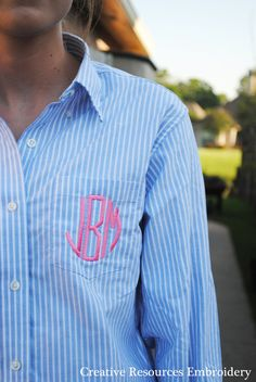 Hey, I found this really awesome Etsy listing at https://www.etsy.com/listing/187297834/monogrammed-blue-white-strip-button