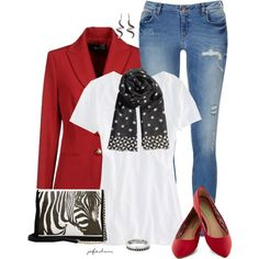 Pops of Red, created by jafashions on Polyvore