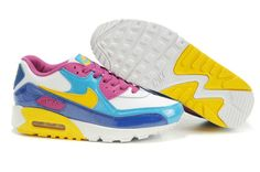 huge selection of b1a59 53b43 Now Buy 345017 173 Womens Nike Air Max 90 GS 2007 White Midwest Gold Orion  Blue Blue Sapphire Super Deals Save Up From Outlet Store at Pumacreeper.