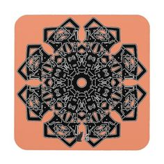 "Respect Octa Glyph Dusk Coasters (set of 6) - The art is a glyphic design that echoes the ancient and mystic runes of past civilizations. This unique coaster is available in two styles; ""Dawn"" and ""Dusk"" to suit your décor needs. The background colors can be changed. 40% OFF Coasters– Use Checkout CODE: ZSUNSTEAL147 'til Midnite Tonite 9-04-16 Over 2800 products at my Zazzle online store. Open 24/7 World wide! http://www.zazzle.com/greg_lloyd_arts*?rf=238198296477835081"