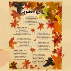 MABON MAGICK OILS, Book of Shadows Pages,  Digital Download, Grimoire…