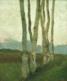 Paula Modersohn-Becker: Birkenstämme, 1900