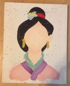 Items similar to Disney Mulan Abstract Painting on Canvas on Etsy Disney Canvas Paintings, Disney Canvas Art, Disney Art, Painting Canvas, Disney Ideas, Disney Drawings, Art Drawings, Painting & Drawing, Watercolor Paintings