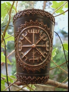"""makepeacearts: """" Vikings compass bracer by *morgenland """""""