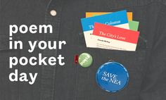 Celebrate Poem in Your Pocket Day with poems!