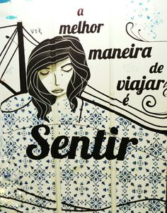 """The best way to travel is to feel"" ❤ Lisbon lovely streetart #alcantara #grafite #paisagem #graffiti #streetart #artederua #tofeel #travel #lisboa #portugal #brige #ponte25abrl #25abrilbrige"