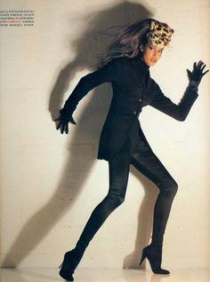 "Vogue Italia August 1992 ""Cartoon"" Models: Linda Evangelista, Yasmeen Ghauri, Rebecca Romijn, Nadja Auermann, Stephanie Roberts, Helena Christensen & Elaine Irwin Photographer: Albert Watson Stylist: Manuela Paversi"