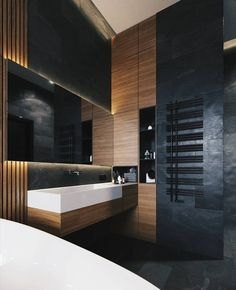 Choose the Latest Modern Sink Collection of the Highest Quality for Your Home's Main Bathroom - Home of Pondo - Home Design - Bathroom Ideas Bad Inspiration, Bathroom Inspiration, Bathroom Interior Design, Modern Interior Design, Interior Architecture, Diy Interior, Modern Sink, Toilet Design, Bath Design
