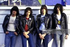The Ramones at Paradiso in Amsterdam, 1978. They are Dee Dee Ramone, Marky Ramone, Johnny Ramone and Joey Ramone.