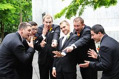 this would be my guys :) @Brandy Busby Stringer Manor House  #BMHbride ; funny wedding photos ; groomsmen photos ; funny groomsmen photos