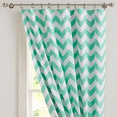 Chevron Blackout Drape.  Love the color, the pattern and the fact that it is a blackout drape!