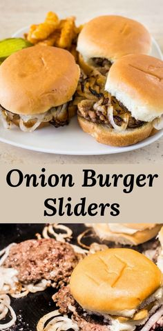 Oklahoma Onion Burger Sliders Are Griddled Along With The Onions To Keep These Mini Smash Burgers Moist And Flavorful. Present With Steamed Buns For The Perfect Mini Onion Burger. Through Peartreechefs Veggie Recipes, Beef Recipes, Vegetarian Recipes, Dinner Recipes, Hamburger Recipes, Veggie Food, Vegetarian Barbecue, Barbecue Recipes, Vegetarian Cooking