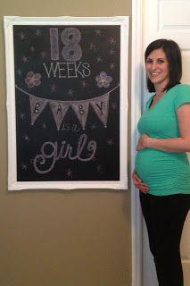 Pregnancy Chalkboard  #girl #18weeks #chalkboard
