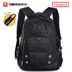 Original Unisex Swisswin Brand Fashion School Backpack Waterproof 15.6 Laptop Backpack