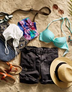 Take your spring break style to the tropics with AEO shorts and Aerie Swim. #AEOSTYLE