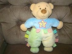 "SOLD! Kids Preferred 12"" Colorful Taggie Type Bear Soft Plush Lovey EUC"