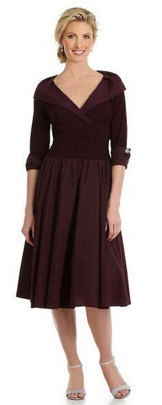 Mixed Lace Amp Taffeta Fit Amp Flare Dress Regular Amp Petite