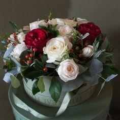 The Real Flower Company Nordic Hat Box Arrangement