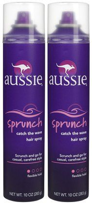 This hair spray is for keeping a strong hold on curly, or scrunched hair.