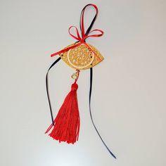 γουρι 2015 Tassel Necklace, Christmas Ornaments, Holiday Decor, Jewelry, Jewlery, Bijoux, Christmas Jewelry, Jewerly, Christmas Decorations