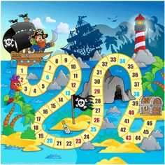 Click to see printable version of Pirate Board Game Printable Template Paper craft