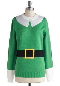 NO WAY!!!! This is the best holiday sweater EVER! Elf Respect Sweater, #ModCloth
