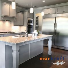 Markraft Cabinets, Inc offers custom cabinet design and installs for kitchens and baths. Gray And White Kitchen, Grey And White, White Kitchens, Custom Cabinets, Cabinet Design, Kitchen And Bath, Home Remodeling, Countertops, Kitchen Cabinets