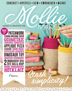 Lisa's gorgeous rope coil vessels made the front cover of Mollie Makes. Learn how to make a rope coil vessel with Lisa in a step-by-step tutorial.