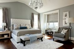 A master bedroom I designed for a lovely young couple in Manhattan Beach, California