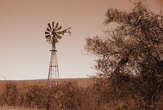 Sound of Silence - sepia, windmill