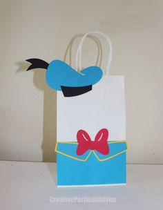 Donald Duck Party Favor Bag Mickey Mouse by CreativePartiesandU